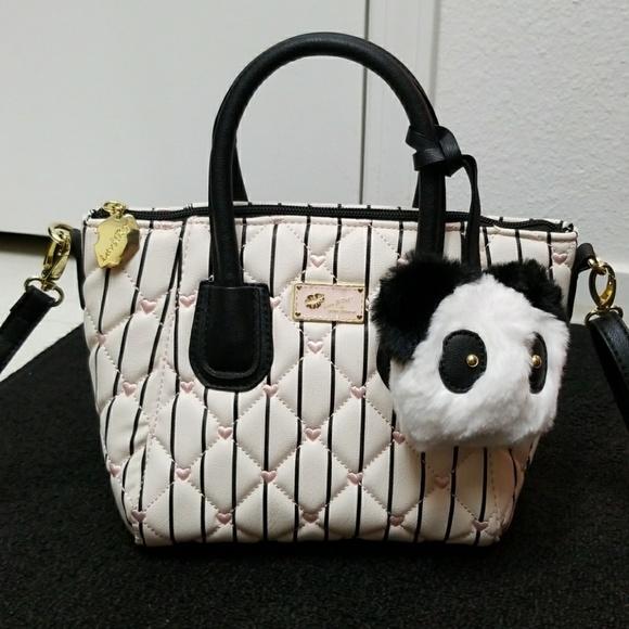 09aba865df9 Betsey Johnson Handbags - 💋MINI Betsey Johnson Panda Quilted Satchel Bag💕